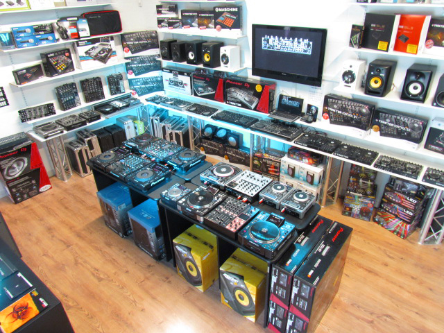 Fully Stocked Showroom with Pioneer Native Instruments Numark Chauvet Equinox LEDJ Alesis Akai M-Audio Focusrite Sennheiser Denon Traktor Serato Ableton Virtual DJ Rekordbox and All The Leading DJ Lighting Pro Audio and Music Production Equipment