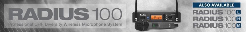 Alto Professional Radius 100 Series UHF Diversity Systems