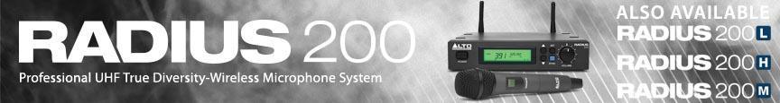 Alto Professional Radius 200 Series UHF True Diversity Systems