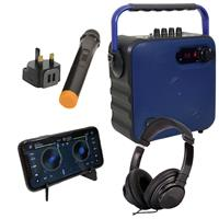 Image of QTX Blue Party Speaker Bundle for DDJ-200