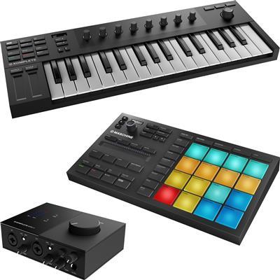 Image of Native Instruments Kontrol M32 & Maschine Mikro & Audio 2 Package