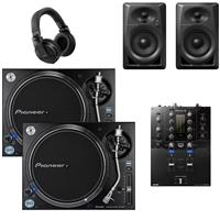 Image of Pioneer DJ PLX1000 & DJMS3 DM40 Bundle