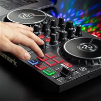 Thumbnail image of Numark Party Mix Beginner DJ Controller with Built In Light Show