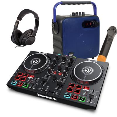 Image of Numark Party Mix II & 1/2 Price Speaker Package Blue