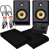 Image of KRK Rokit RP7 G4 & Audio 2 Package