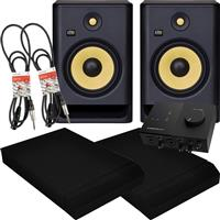 Image of KRK Rokit RP8 G4 & Audio 2 Package